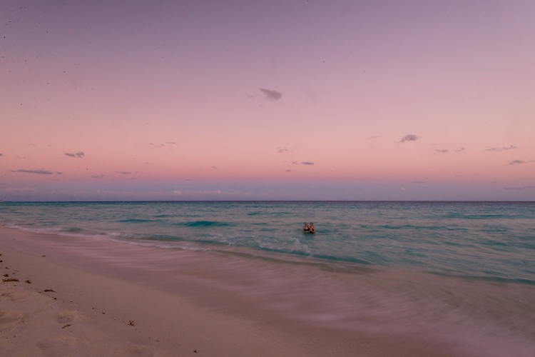 Cancun, Mexico at sunset